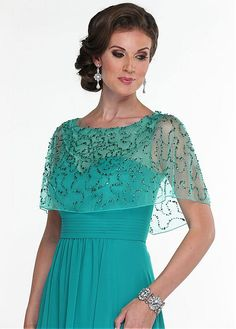 Chic Tulle & Chiffon Bateau Neckline Floor-length A-line Mother Of The Bride Dress