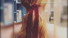 Pretty as a bow: Bryce Dallas Howard sports velvet hair tie