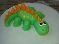 Little dinosaur cake topper Dinosaur Cake Toppers, Fondant Cake Toppers, Cupcake Cakes, Cupcakes, Dinosaur Birthday Party, 3rd Birthday Parties, Birthday Cakes, Homemade Cakes, Eat Cake