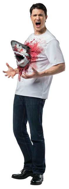Sharknado Adult Costume Shark T-Shirt