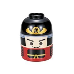 Kokeshi Bento Box - Bushi Samurai, two tier bento box. The upper tier is leak proof. €16.95