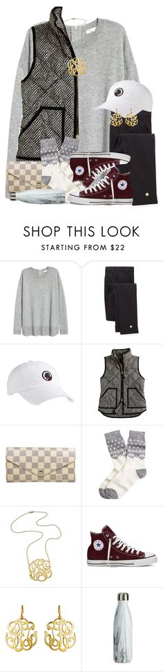 """im a firm believer that everything happens for a reason"" by thefashionbyem ❤ liked on Polyvore featuring Kate Spade, Southern Proper, J.Crew, Louis Vuitton, Brooks Brothers, Jennifer Zeuner, Converse and Susan Shaw"