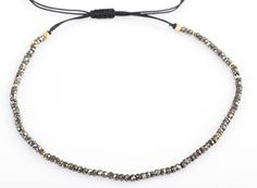 Pyrite Choker or Necklace Gemstone Choker Adjustable