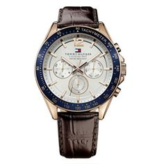 38775f24357 Relógio Tommy Hilfiger Masculino Couro Marrom - 1791118 Couro Marrom