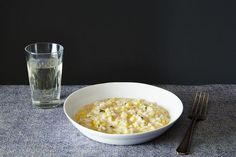 Summer Corn Risotto in Sweet Corn Broth recipe: An easy showcase for summer corn. #food52