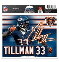 Charled Tillman Chicago Bears Decal
