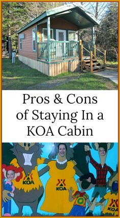 Want the experience of camping without the gear, find out the pros & cons of staying in a KOA cabin. Camping With Kids, Family Camping, Tent Camping, Campsite, Camping Gear, Camping Hacks, Outdoor Camping, Outdoor Travel, Camping Checklist