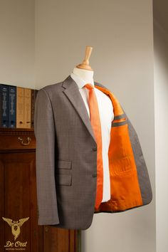 Nailhead Suit with Ticket Pocket — De Oost Bespoke Tailoring