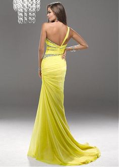 Graceful Chiffon & Stretch Satin One Shoulder Neckline Floor-length Evening Dress