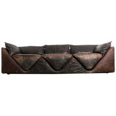 """""""Silene"""" Couch for Sormani, Circa Italy 1 Funky Furniture, Leather Furniture, Home Decor Furniture, Leather Sofa, Leather Seats, Vintage Furniture, Furniture Reupholstery, Sofa Furniture, Wooden Floors Living Room"""
