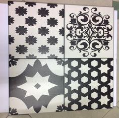 Black & white Moroccan Floor tile
