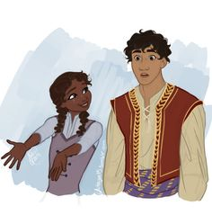 """""""Black Anna + perhaps middle east Kristoff?Apparently I missed all my geography and history classes"""""""