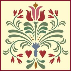Our Rosemaling Stencil Collection is authentic and inspired by the wonderful folk art of Sweden. We know that if you love this look, you will find our Rosemaling stencils so useful! Rosemaling Pattern 14 is a new design. Stencil Patterns, Stencil Designs, Rosemaling Pattern, Stencils, Norwegian Rosemaling, Scandinavian Folk Art, Folk Embroidery, Barn Quilts, Tole Painting