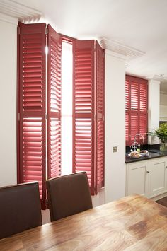 Full height shutters cover the full height of the window, this is our most popular and flexible installation styles offered by plantation shutters. Patio Door Shutters, Kitchen Shutters, Window Shutters, Window Coverings, Window Treatments, Shutter Designs, Painting Shutters, Custom Shutters, Budget Blinds