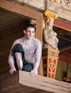 Colin Morgan as Ariel in Shakespeare's The Tempest