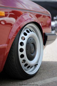 Keeping it steel 17 inch van wheels Volkswagen Golf Mk1, Vw Mk1, Golf 1, Vw Caddy Mk1, Vw Cabrio, Rims For Cars, Car Wheels, Rally Car, Super Cars