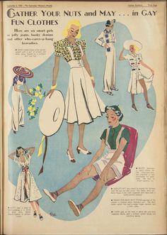 Issue: 3 Sep 1938 - The Australian Women's Week. Vintage Jumper, Vintage Coat, Retro Vintage, Vintage Style, 1930s Style, Vintage Images, 1930s Fashion, Victorian Fashion, Retro Fashion