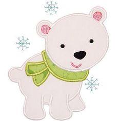 896cf10362779 Digital Applique Designs for Download Polar Bear Party