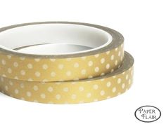 Masking Tape Punkte gold, 30m