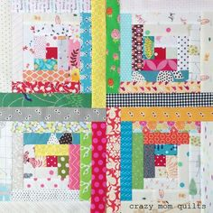 the start of a traditional log cabin quilt | crazy mom quilts | Bloglovin'