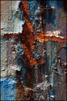 Awesome texture with pitting! .Photo by Mark A Culbertson...  Rust and corrosion can be a beautiful thing as long as it isn't unchecked or caused by something like clear-cutting but then that cause erosion which is quite a different matter.