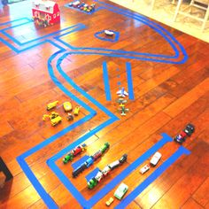 Car track for my sweet boy! He's 2 1/2 and in heaven! Good quiet time!