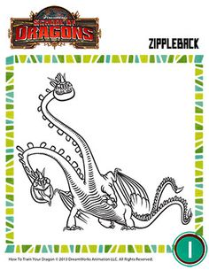 color zippleback 2 printable coloring page