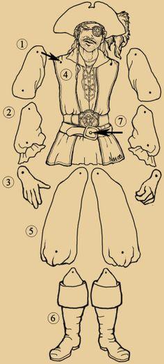 Sea Lyon Puppet Instructions Marionetas de papel, pirata, hay muchos sobretodo hadas