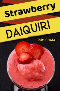 I am a Strawberry Daiquiri Bartender! I love my strawberry Daiquiri's and Whip up several them for all my guests in the month of July - Here in Northern Alberta - this is when Strawberries Rumchata Drinks, Rumchata Recipes, Rum Cocktail Recipes, Cocktails, Drink Recipes, Pina Colada, Strawberry Daquiri, Daiquiri Cocktail, Blender
