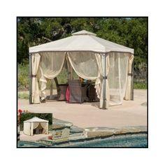 Outdoor-Patio-Gazebo-Backyard-10x10-Canopy-Shade-Netting-Tent-Screened-Curtain