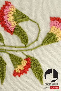 Tutorial for Beginners: Do you want to learn flower ideas with HandiWorks to add your own hand embroidery projects? It's the process of the stitching that helps me relax. Flower Designs are a classic motif in embroidery, but they're also a bit of a trend.  Whether you want to Stitch Embroidery Design with easy way and using with pearl/ perle coton threads...