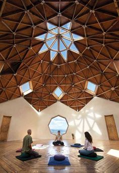 Spacious meditation room From: Workout Wellness :: The Official Taos Vacation Guide :: Taos New Mexico Meditation Chair, Meditation Retreat, Best Meditation, Meditation Center, Meditation Space, Yoga Retreat Center, Eco Construction, Geodesic Dome Homes, Taos New Mexico