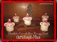 Rice Krispy Treat Christmas Mice Tutorial