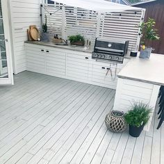 Ikea Outdoor, Outdoor Bbq Kitchen, Outdoor Kitchen Design, Outdoor Lounge, Outdoor Areas, Outdoor Living, Backyard Patio Designs, Diy Deck, Back Patio