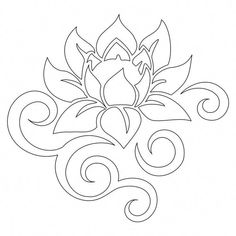 Tattoo of Tribal lotus, Beauty and strength tattoo - 1 Pasta Cenneti Embroidery Designs, Paper Embroidery, Quilting Designs, Flower Embroidery, Embroidery Stitches, Stencil Patterns, Stencil Designs, Quilt Patterns, Stencil Templates