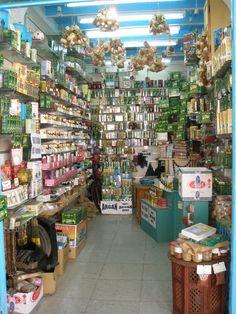 Interior de la perfumería en Túnez