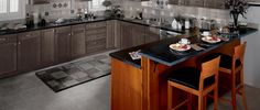Kitchen Peninsula Cabinets from Mid Continent Cabinetry