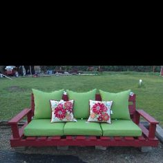 Homemade Pallet Couch