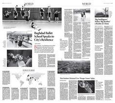 Baghdad Ballet School Speaks to City's Resilience Epoch Times #newspaper #editorialdesign