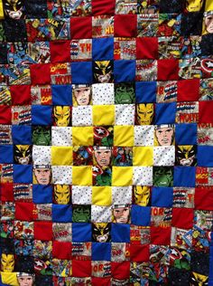 And then she realized. she could make a Bat Family quilt. Superhero Quilt, Superhero Room, Avengers Superheroes, Marvel Avengers, Sewing Crafts, Sewing Projects, Disney Quilt, Quilting Designs, Quilting Ideas