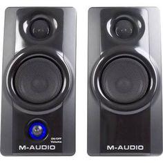 MONITORES DE ESTUDIO AV20 M-AUDIO Escuche su música, películas y juegos de vídeo con toda la calidad de su diseño usando los monitores multimedia Studiophile™ AV 20 de M-Audio.