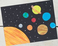 Passport to imagination week 4 kids destination project space & planets Small Canvas Paintings, Easy Canvas Art, Small Canvas Art, Cute Paintings, Easy Canvas Painting, Mini Canvas Art, Diy Painting, Pintura Hippie, Planet Painting