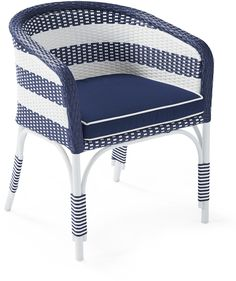 Outdoor Riviera Bucket Chair with Cushion #ad
