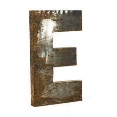Letter E Metal Wall Art - 21W x 36.3H in. - LETTER E