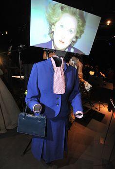 The Iron Lady - 2011 - Meryl Streep as Margaret Thatcher. Meryl Streep, Barack Obama, Phoenix Art Museum, The Iron Lady, Hollywood Costume, Margaret Thatcher, Design History, Costume Design, Exhibit