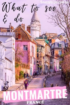 Why You Must See Montmartre - SNAZZY TRIPS travel blog This artsy district is only a short 20 minute ride by Metro from the Paris city centre. Located in the 18th arrondisement, it is perfect for a day trip, or a short stay, and is easily included in your itinerary of Paris. #montmartreparis #montmartreblog #parisblog #montmartrefrance #snazzytrips Paris France Travel, Paris Travel Tips, Europe Travel Tips, European Travel, Travel Guides, Travel Info, Travel Destinations, Beautiful Places To Visit, Cool Places To Visit