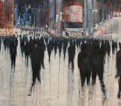 lesley oldaker artist contemporary painter photographer of expressive abstract urban figurative art Urban Landscape, Landscape Art, Open Art, A Level Art, City Art, Artist Names, Black Art, Contemporary Artists, Painting & Drawing