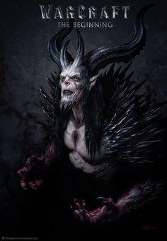The Art of Warcraft Film - Medivh, Wei Wang Warcraft Film, Warcraft Art, World Of Warcraft, Dark Fantasy Art, Dark Art, Character Art, Character Design, Creepy Monster, Demon Art