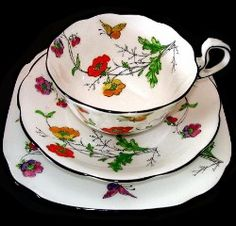 Royal Albert - Buttercup EST Between: 1920s to 1930s Cup Shape: Older Countess, Doris, Hampton, and Butterfly Handle