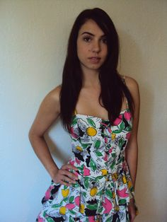 Vintage 80s Floral Ruffle Corset Dress by nanapatproject on Etsy, $48.00
